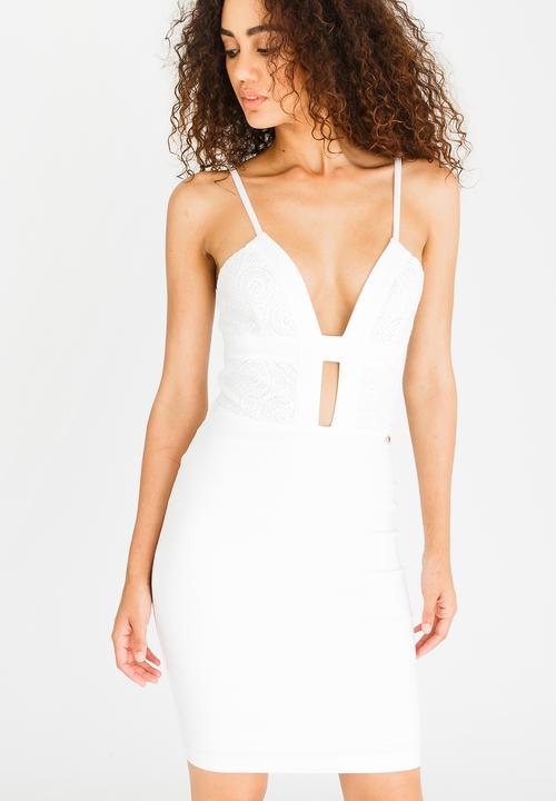 Midi Dress White Sissy Boy Occasion  b74ba6719