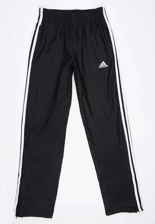 super popular cf789 49cd8 adidas Performance - Boys Woven 3 Stripe Pant Black and White