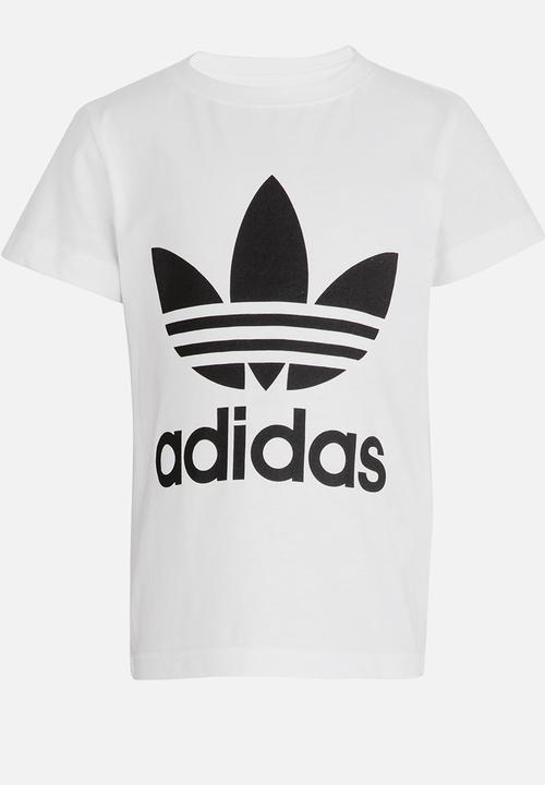 02a1267e1 Little boys trefoil tee - white adidas Originals Tops
