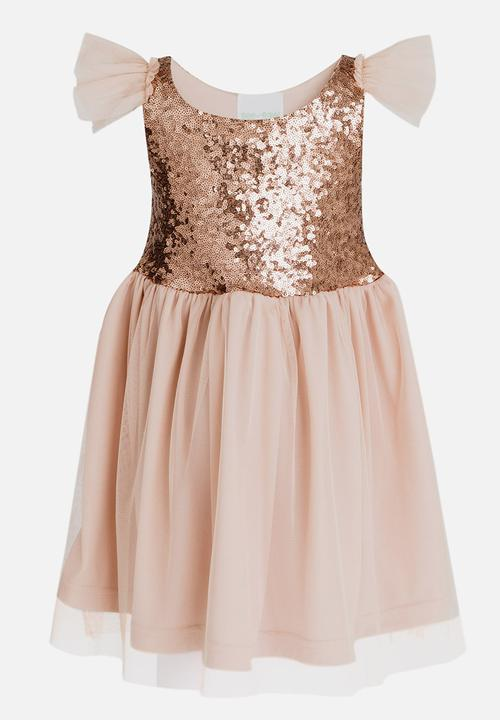 ecbd13d45ef Sequin Combo Dress Pale Pink See-Saw Dresses   Skirts