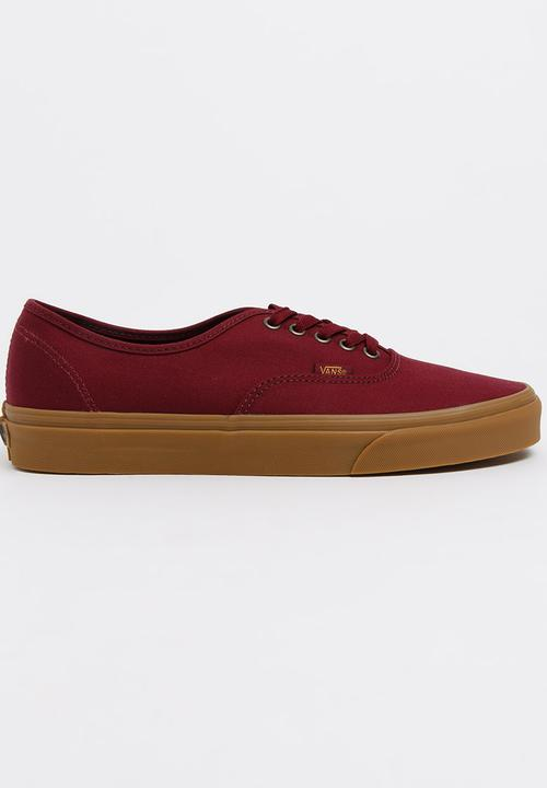 360151e54a2 Authentic Sneakers Burgundy Vans Sneakers