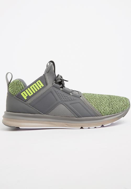 f8a358f79df3 Enzo Knit Sneakers Green PUMA Sneakers