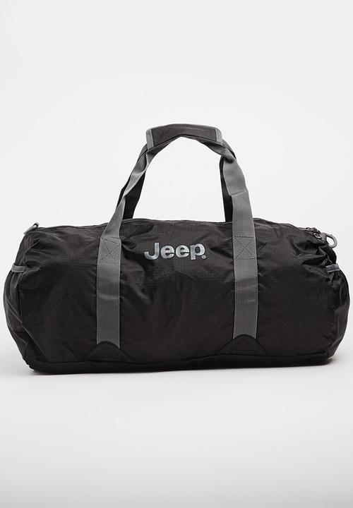 45L Lightweight Fold Up Travel Duffel Bag Black JEEP Bags   Wallets ... 3251944858727