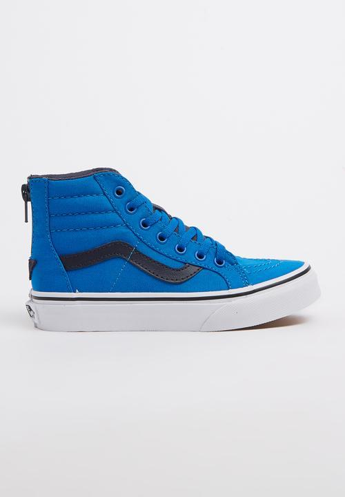 c6327c11ee SK8 Hi Zip Sneaker Blue Vans Shoes
