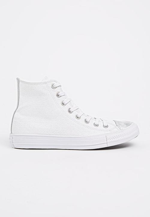 80a04a6602c2 Chuck Taylor All Star Brush Off Toe Cap Hi Sneaker White Converse ...