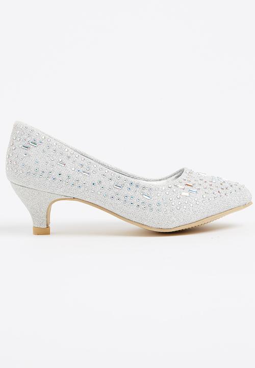 c8d5e0fd0a Girls Kitten Heel Silver Jumbo Shoes | Superbalist.com