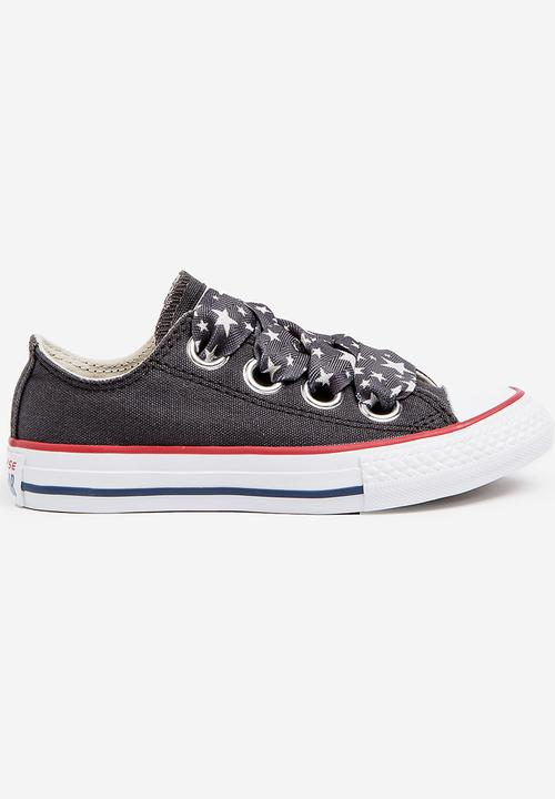 f63a9a4eaa0b Chuck taylor all star big eyelet - ox - almost black driftwood white ...