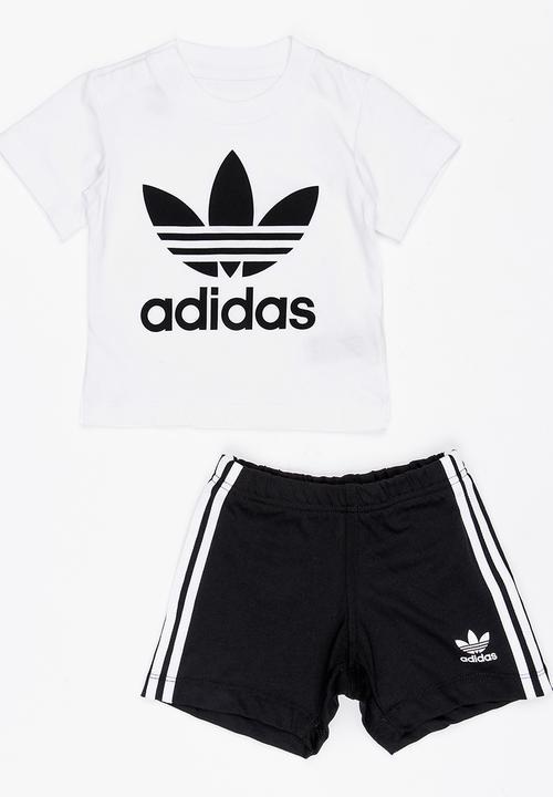 b8f61327 Short tee set - white and black adidas Originals Tops   Superbalist.com