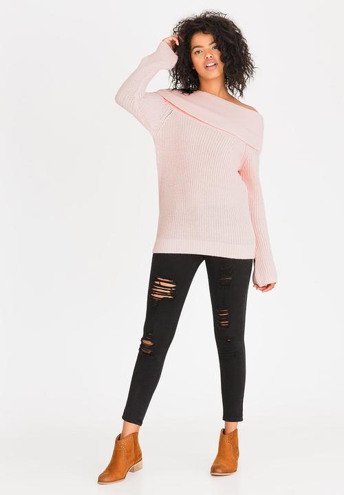 b0d51ebfa122 Bardot Jumper Pale Pink Tokyo Laundry Knitwear