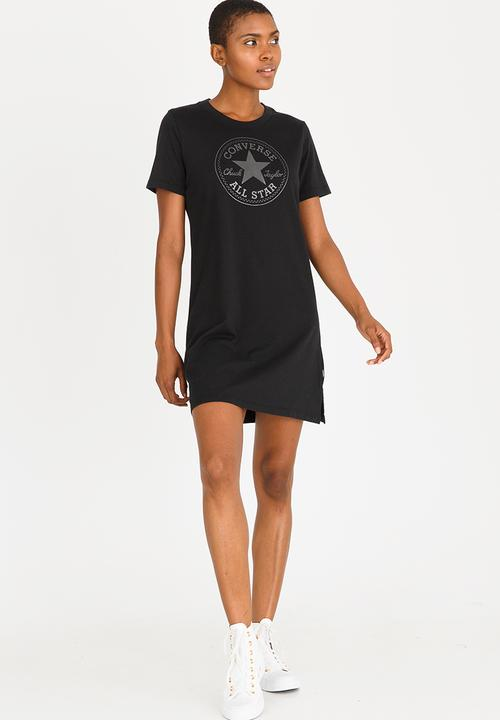 d0f8910c4a28 T-shirt Dress Black Converse Casual