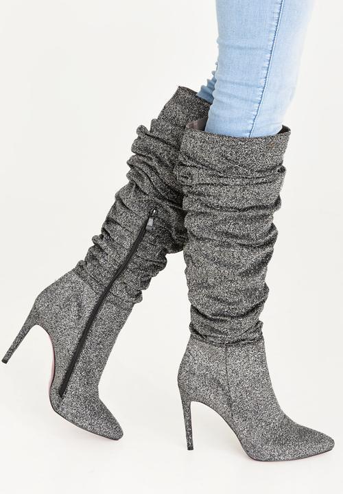 e03f251eec7 Baby Knee Length Boots Dark Grey Plum Boots
