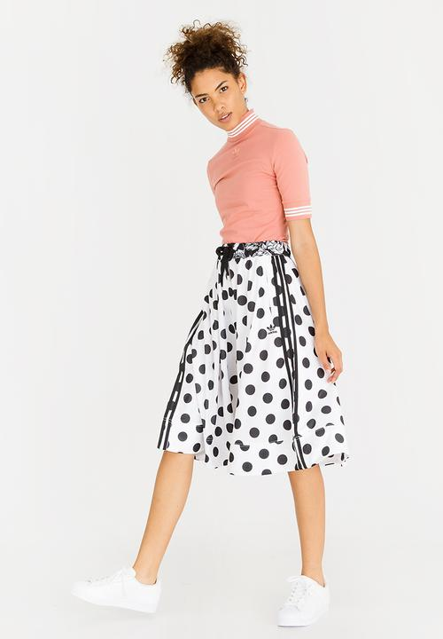 9f7a96fe5c08 Collab Farm Midi Skirt Black and White adidas Originals Skirts ...