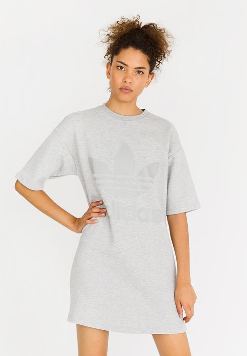 6317a415d01 Short Sleeve Dress Mid Grey adidas Originals Casual