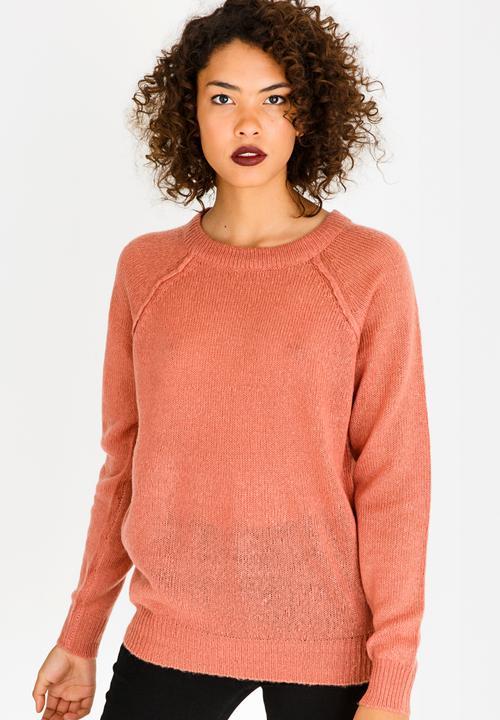 b24dc36adea05 Mohair-like Jumper Pale Pink Brave Soul Knitwear