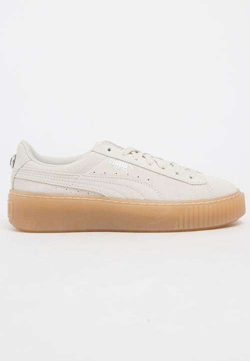 6b70884cc8d Puma Suede Platform Jewel Sneaker Cream PUMA Shoes