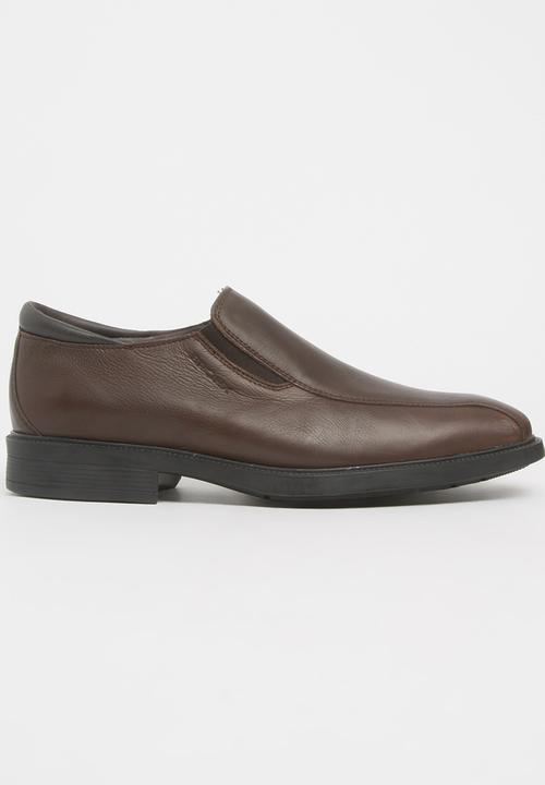Hudson Leather Slip On Shoes Dark Brown Bronx Formal Shoes ... 7fb68035a