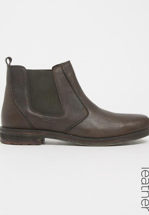 best authentic 4888c 06655 Connal Leather Chelsea Boots Dark Brown