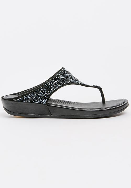 53db996d94b370 Glitter Embellished Sandals Black Fitflop Sandals   Flip Flops ...