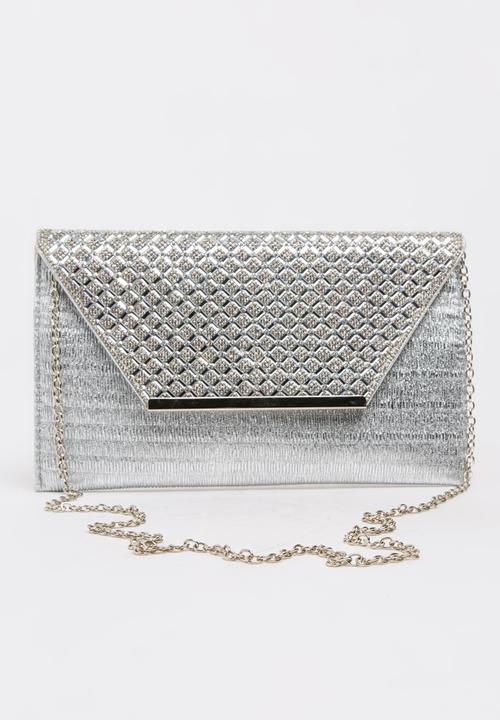 8928ad9bc Shimmer Clutch Bag Silver BLACKCHERRY Bags & Purses | Superbalist.com
