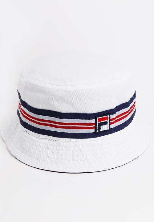 5f55447aab5 Casper Reversible Bucket Hat White FILA Headwear