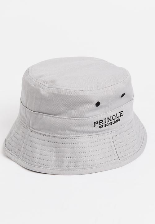 Gus Rev Bucket Hat Black and Grey Pringle of Scotland Headwear ... 5b747c69027