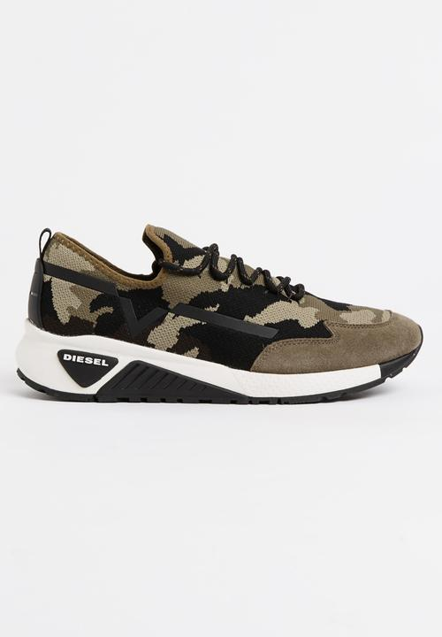 6487fa5ace389 S-KBY Camo Sneakers Khaki Green Diesel Sneakers | Superbalist.com
