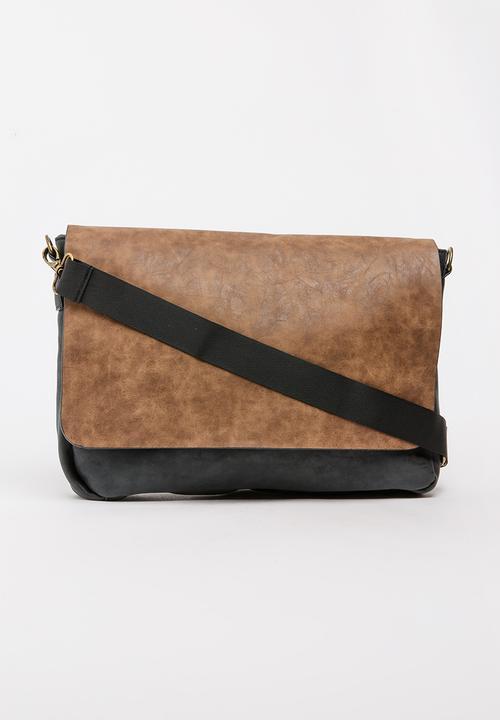 Colour-Block Sling Bag Brown Bata Bags   Purses  b594158a8f0a3