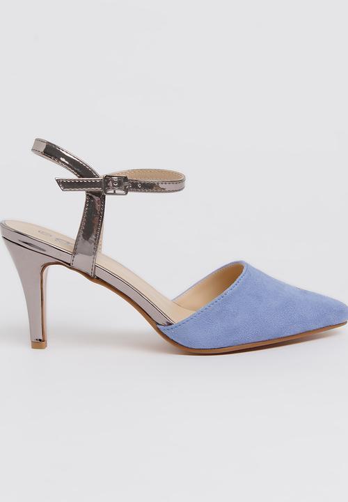 22efab2418 Metallic Ankle-strap Midi Heels Pale Blue edit Heels | Superbalist.com