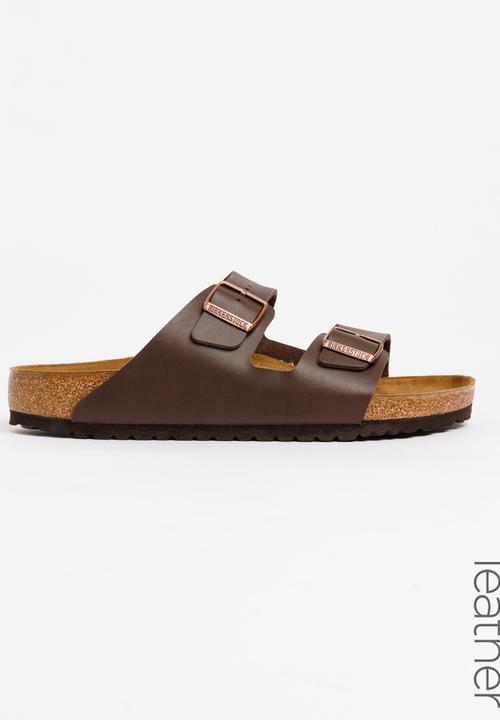 af951c05c4d Arizona Leather Slider Sandal Dark Brown Birkenstock Sandals   Flip ...