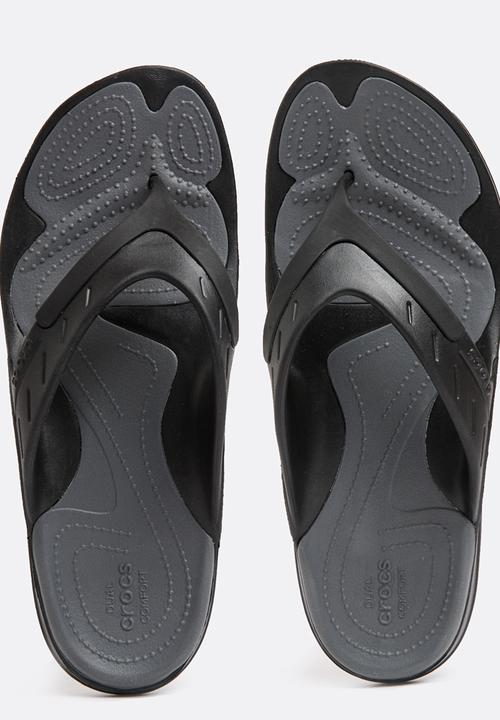 caceef8064f548 Modi Sport Flip Flop Black Crocs Sandals   Flip Flops