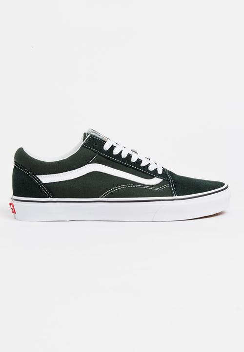 697993664439 Vans Old Skool Sneakers Dark Green Vans Sneakers