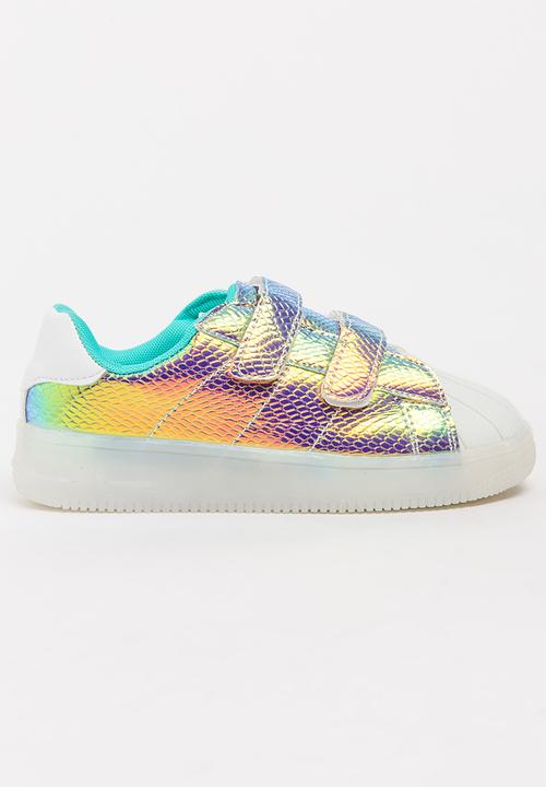 57ca67088b87 Girls Light Up Sneaker Multi-colour POP CANDY Shoes
