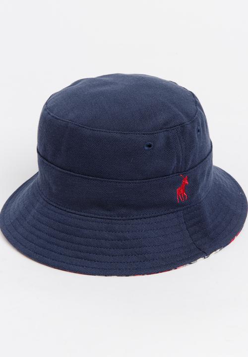 cf04820580e Pearson Pique Reversible Bucket Hat Navy POLO Headwear