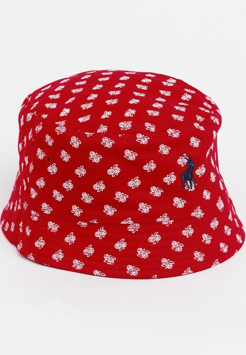3f2cb38c Alura Paisley Reversible Bucket Hat Red POLO Headwear   Superbalist.com