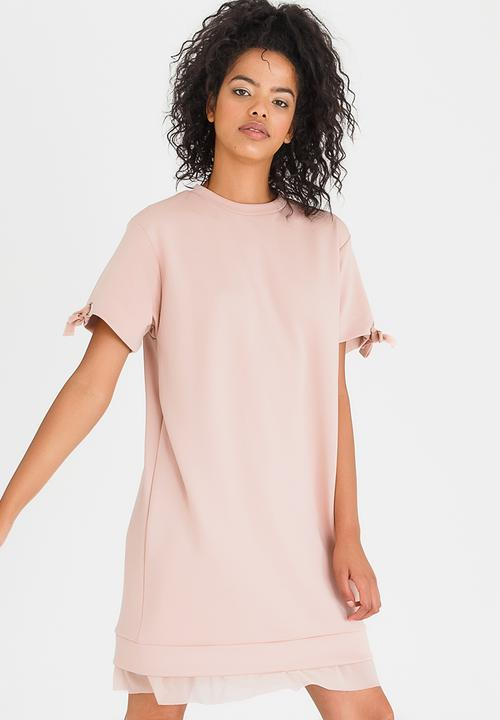 0e538740735 Sleeve Detail Sweater Dress Pale Pink c(inch) Casual