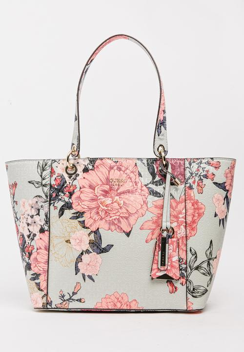 2a3bcc0f7f9d Kamryn Tote Floral GUESS Bags   Purses