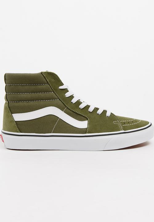 ce9c1769a92d24 Sk8 Hi Top Sneakers Khaki Green Vans Sneakers