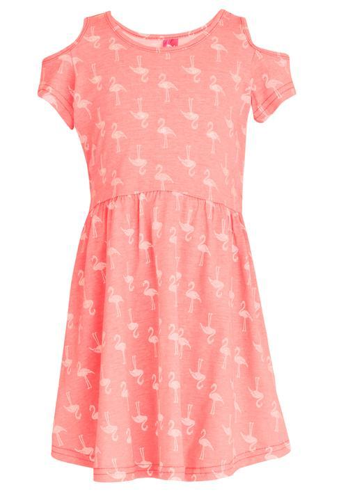 51da57c3c4697f Flamingo Printed Dress Coral Twin Clothing Dresses   Skirts ...