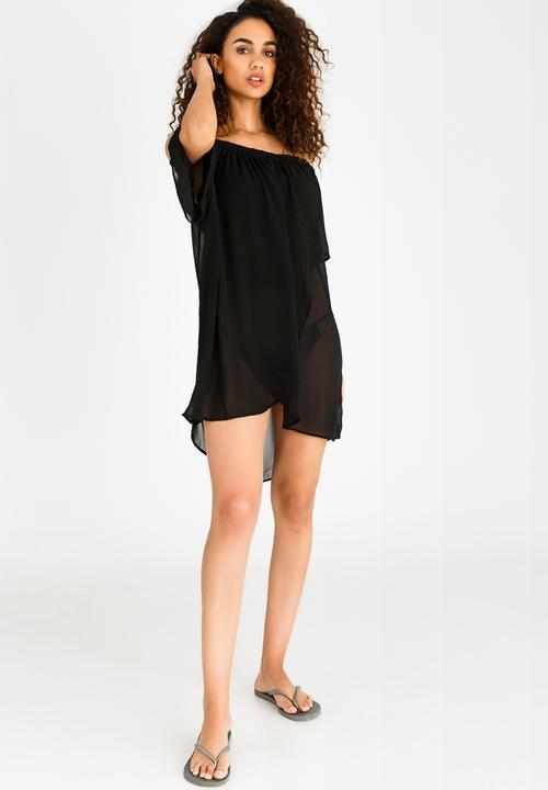 11e6c6c0a1 Bardot Beach Dress Black Lithe Kaftans & Cover Ups | Superbalist.com