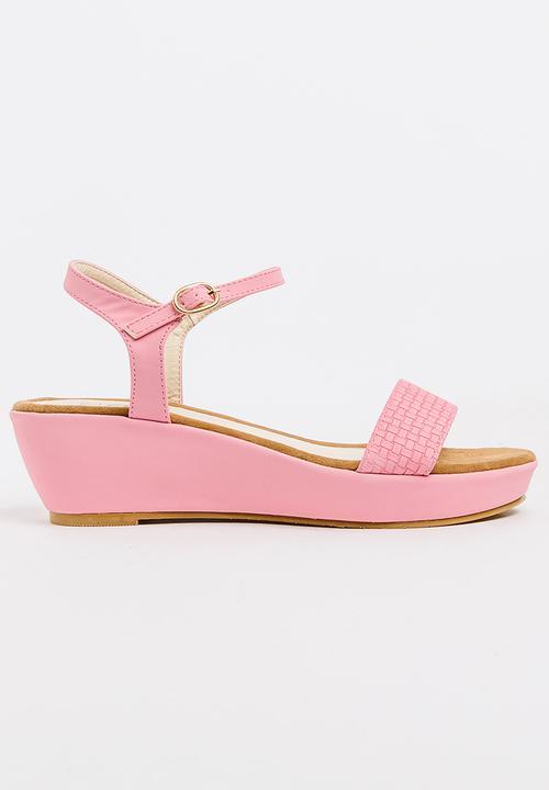 dfc1cd18239 Ankle-strap Wedges Mid Pink Sarah J Heels