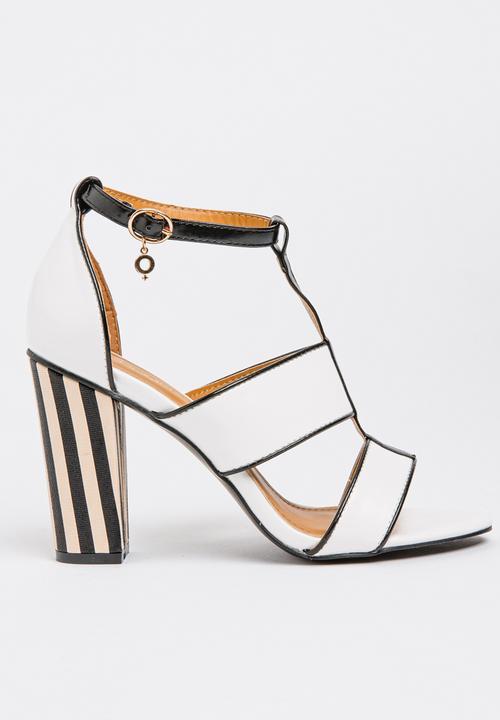 3106e0d6a3 Mishka Strappy Heels White Bronx Heels | Superbalist.com