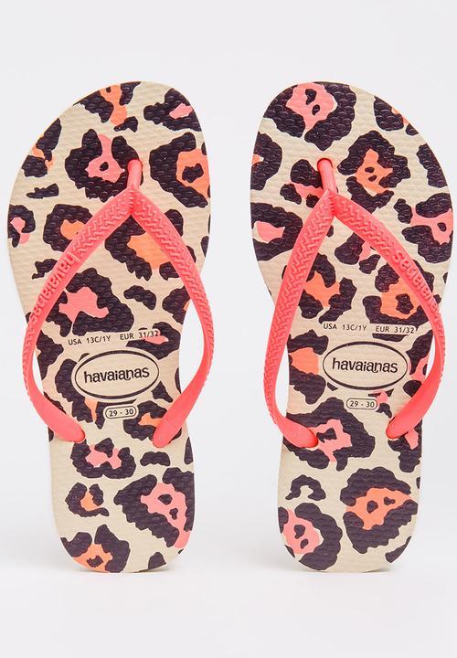 78b534b828ef Kids Animal Slim Flip-flops Coral Havaianas Shoes