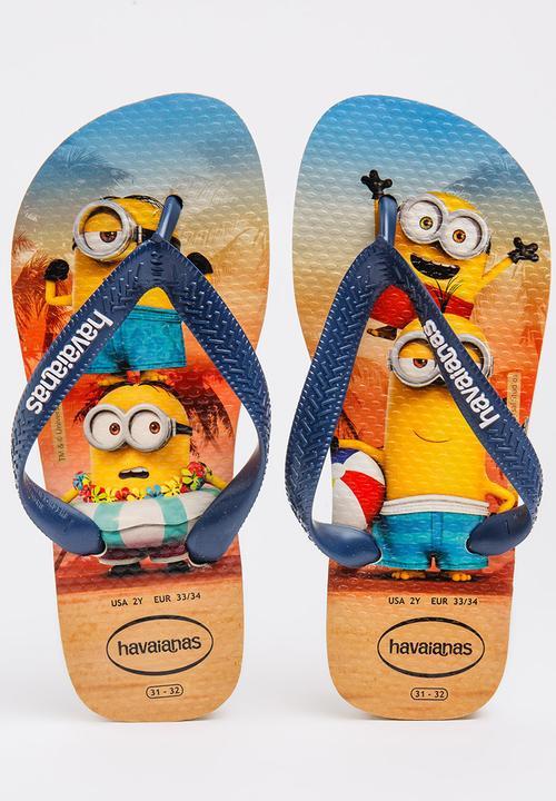 11e12840b7d24 Kids Minions Flip-flop Navy Havaianas Shoes