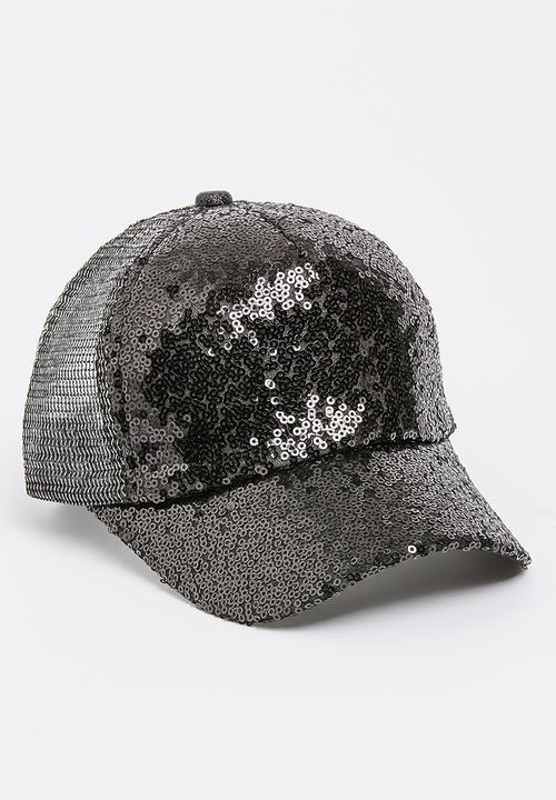 a85143933cf853 Sequin Cap Black POP CANDY Accessories | Superbalist.com