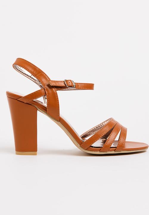 b42108f0f06 Ankle-strap Heels Tan