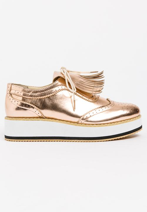 1a46545ab9e Metallic Platform Sneakers Rose gold Sissy Boy Sneakers ...