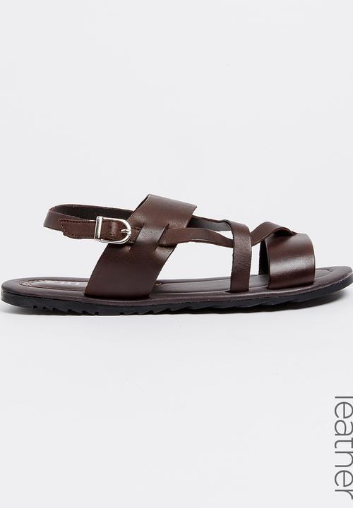 b7a6c389a Leather Sandals Dark Brown edited Sandals   Flip Flops