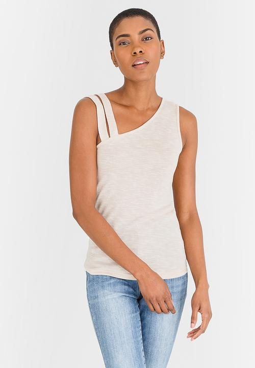 181f364963c3 Double Strap Cami Stone edit T-Shirts, Vests & Camis | Superbalist.com