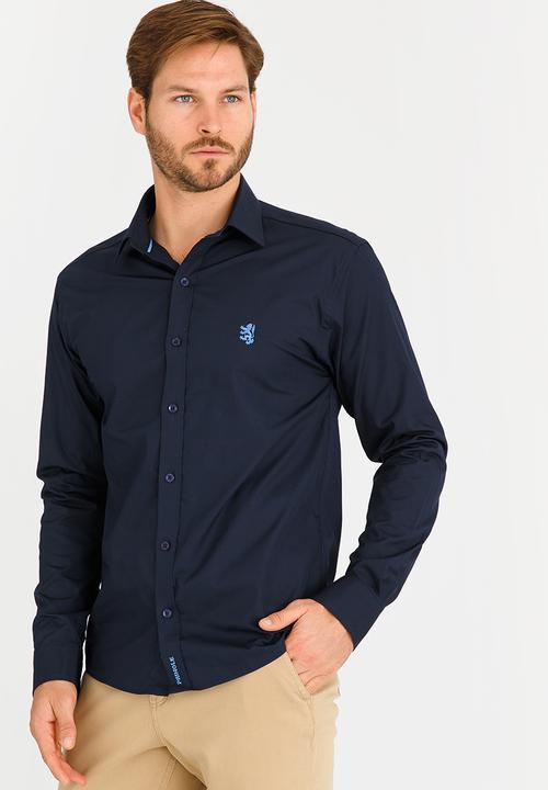 0a91eb754 Niall Styled Shirt Navy Pringle of Scotland Shirts