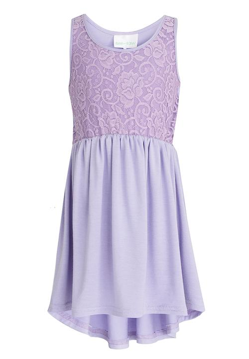 006d61551d Hi-Low Dress with Lace Bodice Mid Purple See-Saw Dresses   Skirts ...